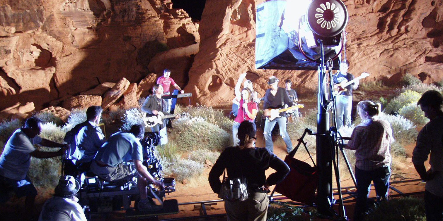 Music Video Shoot - JR Lighting Production Lighting and Grip Rentals | Video lighting and Camera dolly on tracks