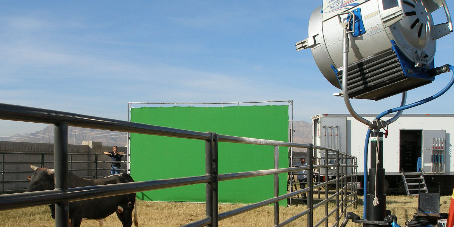 Green Screen Outside Photo Shoot | Grip Truck Rental | JR Lighting Production Lighting and Grip Rentals