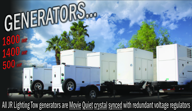 JR Lighting & Grip Las Vegas | Home Slider Image | Tow Plant Generators