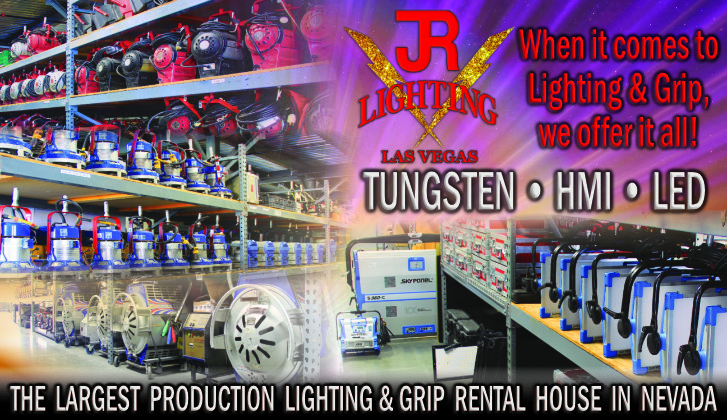 JR Lighting & Grip Las Vegas | Home Slider Image | Lighting & Grip Rentals