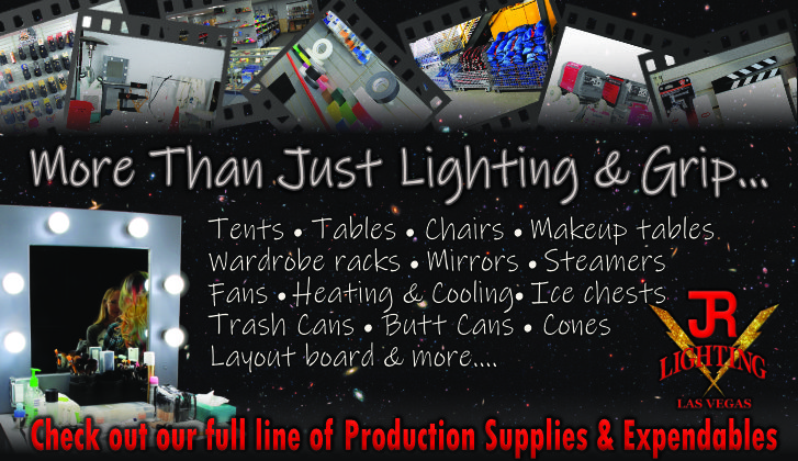 JR Lighting & Grip Las Vegas | Home Slider Image | Production Supplies & Expendables